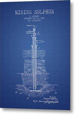1926 Mining Sulphur Patent En37_bp Metal Print