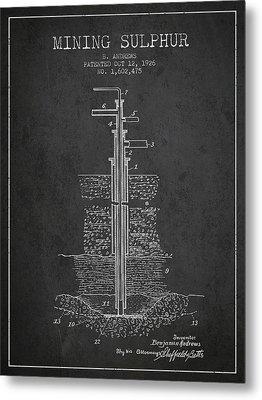 1926 Mining Sulphur Patent En37_cg Metal Print
