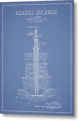 1926 Mining Sulphur Patent En37_lb Metal Print