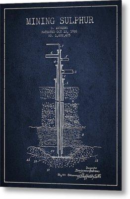 1926 Mining Sulphur Patent En37_nb Metal Print