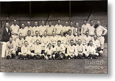 1926 Yankees Team Photo Metal Print