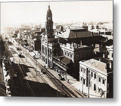 1928 Vintage Adelaide City Landscape Metal Print