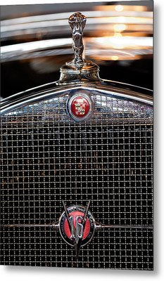 1930 Cadillac Roadster Hood Ornament 3 Metal Print by Jill Reger