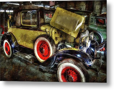 1930 Ford Model A Convertible Metal Print