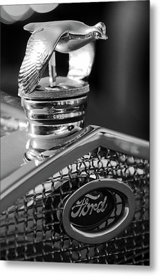 1930 Ford Quail Hood Ornament 3 Metal Print