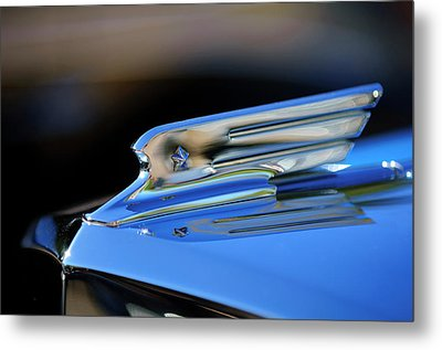 1931 Marmon Sixteen Coupe Hood Ornament 2 Metal Print by Jill Reger