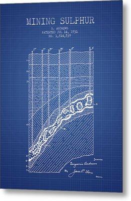 1931 Mining Sulphur Patent En38_bp Metal Print