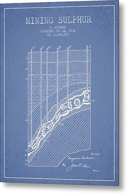 1931 Mining Sulphur Patent En38_lb Metal Print