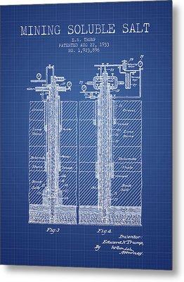 1933 Mining Soluble Salt Patent En40_bp Metal Print