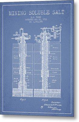 1933 Mining Soluble Salt Patent En40_lb Metal Print
