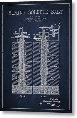 1933 Mining Soluble Salt Patent En40_nb Metal Print