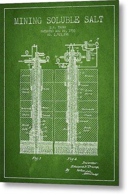 1933 Mining Soluble Salt Patent En40_pg Metal Print