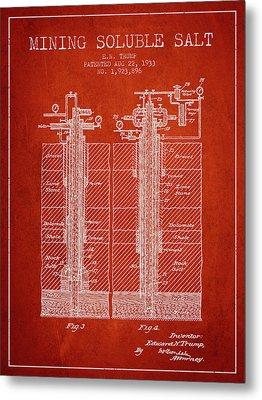 1933 Mining Soluble Salt Patent En40_vr Metal Print