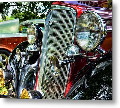 1934 Chevrolet Head Lights Metal Print by Paul Ward