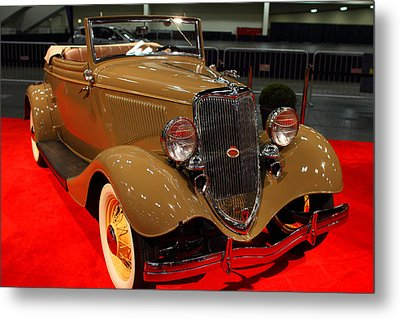 1934 Ford Model 40 Deluxe Cabriolet Metal Print by Wingsdomain Art and Photography