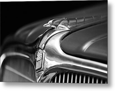 1934 Nash Ambassador 8 Hood Ornament 2 Metal Print by Jill Reger