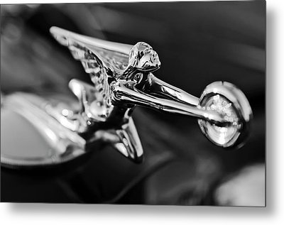 1934 Packard Hood Ornament 2 Metal Print by Jill Reger