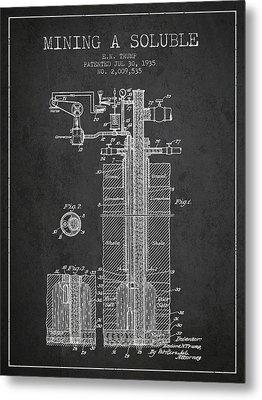 1935 Mining A Soluble Patent En39_cg Metal Print