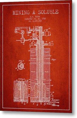 1935 Mining A Soluble Patent En39_vr Metal Print