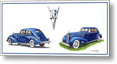 1936 Cadillac Aerodynamic Coupe Metal Print by Jack Pumphrey