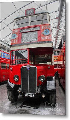 1937 Aec Regent I Bus Stl2377 Metal Print