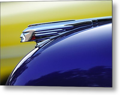 1939 Pontiac Coupe Hood Ornament Metal Print by Jill Reger