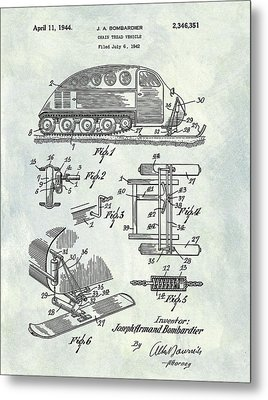 1944 Chain Tread Vehicle Patent Metal Print by Dan Sproul