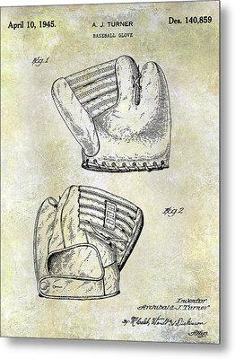 1945 Baseball Glove Patent Metal Print