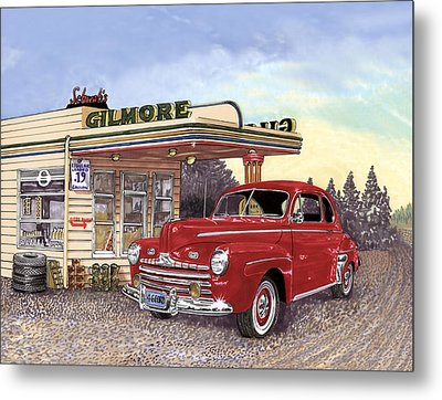 1946 Ford Deluxe Coupe Metal Print by Jack Pumphrey