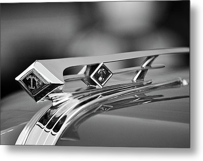 1949 Diamond T Truck Hood Ornament 4 Metal Print by Jill Reger