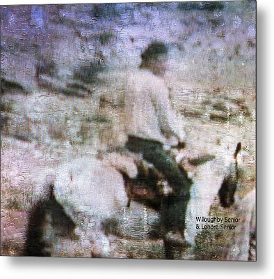 1950's - Navajo At One With Horse Metal Print