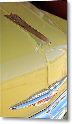 1953 Chevrolet Bel Air Hood Ornament Metal Print by Jill Reger