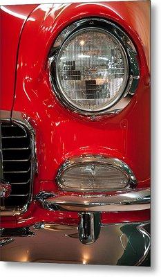 1955 Chevy Bel Air Headlight Metal Print by Sebastian Musial