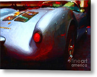 1955 Porsche 550 Rs Spyder . Painterly Style Metal Print by Wingsdomain Art and Photography