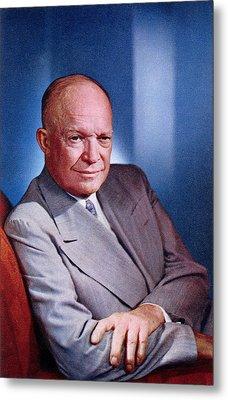 1955 President Dwight D Eisenhower Metal Print by Historic Image