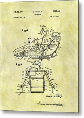 1955 Snowmobile Patent Metal Print
