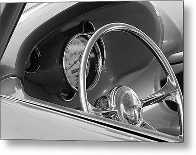 1956 Chrysler Hot Rod Steering Wheel Metal Print by Jill Reger