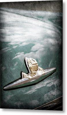 1956 Lincoln Priemere Emblem -0881ac Metal Print