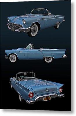 1957 Ford Thunderbird Metal Print by Bill Dutting