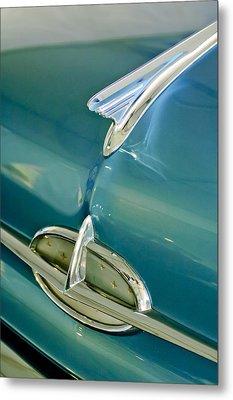 1957 Oldsmobile Hood Ornament 5 Metal Print by Jill Reger
