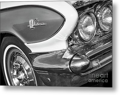 Metal Print featuring the photograph 1961 Le Sabre Monotone by Dennis Hedberg