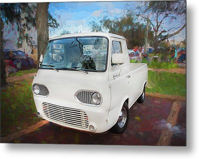 1963 Ford Econoline Truck  Metal Print by Rich Franco