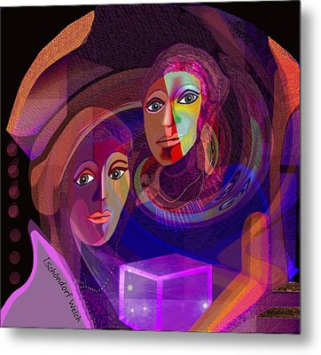 Metal Print featuring the digital art 1963 - Pandoras Magic Box 2017 by Irmgard Schoendorf Welch