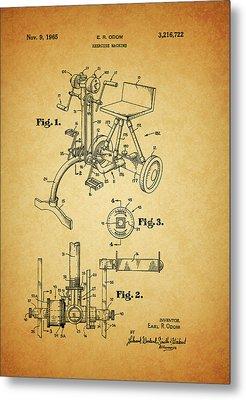1965 Exercise Machine Patent Metal Print