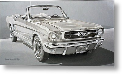 1965 Ford Mustang Metal Print by Daniel Storm