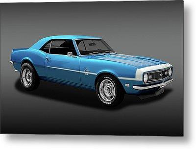 1968 Chevrolet Camaro Super Sport 350   -  1968chevcamaross350fa170414 Metal Print by Frank J Benz