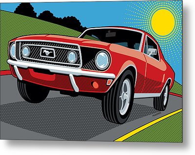 1968 Ford Mustang Sunday Cruise Metal Print