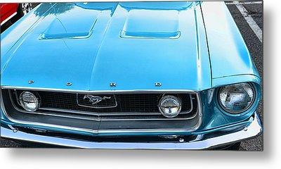 1968 Mustang Fastback Hood Metal Print by Paul Ward