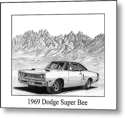 1969 Dodge Super Bee Metal Print