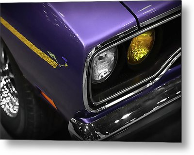 1970 Plum Crazy Purple Road Runner Metal Print by Gordon Dean II